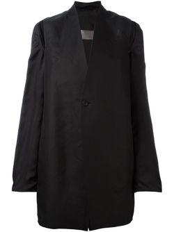 Пальто С Вырезами Rick Owens                                                                                                              чёрный цвет