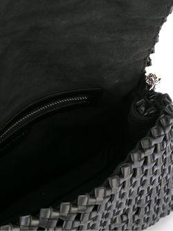 Сумка Soft Beckett С Плетеным Эффектом Stella Mccartney                                                                                                              чёрный цвет