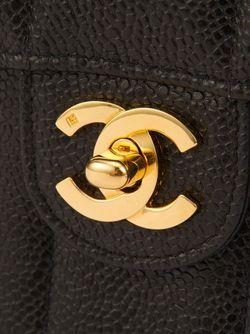 Классическая Мини-Сумка С Вертикальной Строчкой Chanel Vintage                                                                                                              чёрный цвет