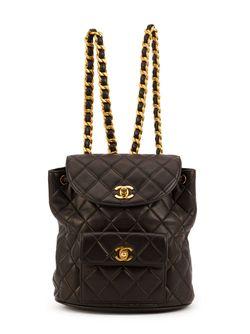 Стеганый Рюкзак Chanel Vintage                                                                                                              чёрный цвет
