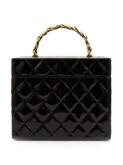 Стеганый Чемоданчик Для Косметики Chanel Vintage                                                                                                              черный цвет