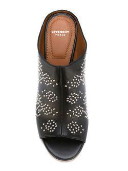 Мюли На Массивном Каблуке Givenchy                                                                                                              черный цвет