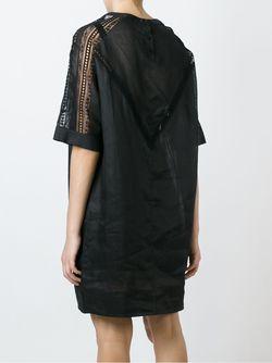 Платье С Кружевными Панелями Ermanno Scervino                                                                                                              черный цвет