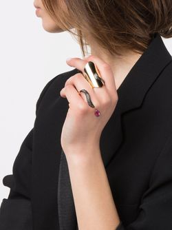 Двойное Кольцо Marquise С Бриллиантами DIONEA ORCINI                                                                                                              серебристый цвет