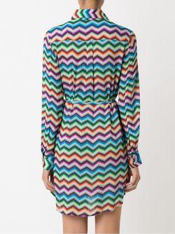 Платье-Рубашка С Узором Шеврон BLUE MAN                                                                                                              многоцветный цвет