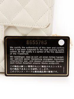 Классическая Мини-Сумка С Откидным Клапаном Chanel Vintage                                                                                                              белый цвет