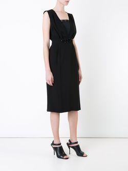 Декорированное Платье Muveil                                                                                                              черный цвет