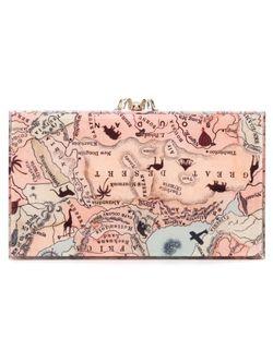 Клатч Pandora С Принтом Карты Charlotte Olympia                                                                                                              Nude & Neutrals цвет