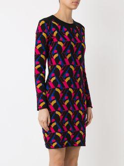 Geometric Knit Dress Gig                                                                                                              черный цвет