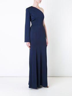 Платье На Одно Плечо GINGER & SMART                                                                                                              синий цвет
