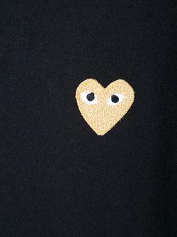 Футболка С Аппликацией Сердца Comme des Gar ons Play                                                                                                              черный цвет