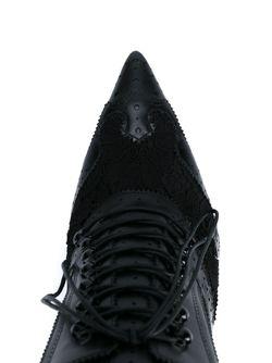 Мюли На Шнуровке С Элементами Брог Givenchy                                                                                                              чёрный цвет