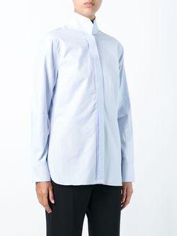 Рубашка На Потайной Застежке By Malene Birger                                                                                                              синий цвет