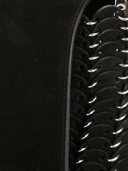 Сумка С Цепочной Отделкой Paco Rabanne                                                                                                              черный цвет