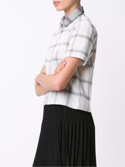 Рубашка В Клетку Maison Kitsune                                                                                                              Nude & Neutrals цвет
