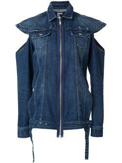 Джинсовая Рубашка С Прорезями HOOD BY AIR                                                                                                              синий цвет