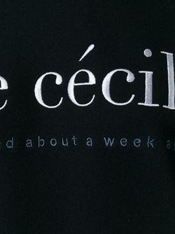 Толстовка С Логотипом ÊTRE CÉCILE                                                                                                              чёрный цвет