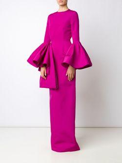 Платье С Оборками CHRISTIAN SIRIANO                                                                                                              розовый цвет