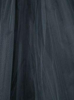 Вечернее Платье С Тюлем CHRISTIAN SIRIANO                                                                                                              черный цвет