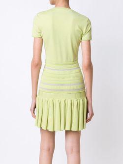Трикотажное Мини-Платье Roberto Cavalli                                                                                                              зелёный цвет