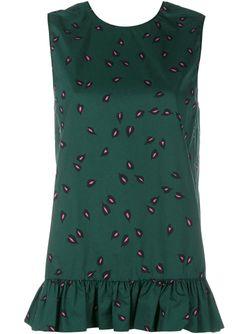Топ С Расклешенным Подолом Marni                                                                                                              зелёный цвет