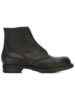 Ботинки На Молнии Спереди GUIDI                                                                                                              чёрный цвет