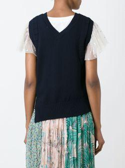 Топ Асимметричного Кроя Tsumori Chisato                                                                                                              синий цвет