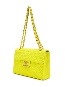 Сумка На Плечо С Логотипом Chanel Vintage                                                                                                              зелёный цвет