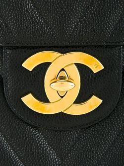 Сумка На Плечо С Логотипом Chanel Vintage                                                                                                              чёрный цвет