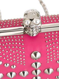 Клатч Britannia Skull Alexander McQueen                                                                                                              розовый цвет