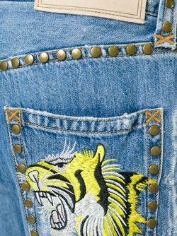 Джинсы С Рваными Деталями Dolce & Gabbana                                                                                                              синий цвет
