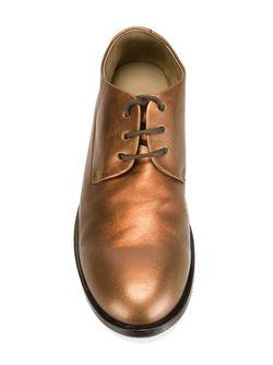 Туфли На Шнуровке С Эффектом Металлик Marsell                                                                                                              серебристый цвет