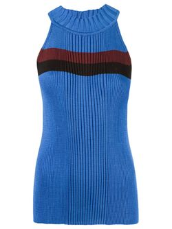 Stripe Ribbed Knit Blouse Gig                                                                                                              синий цвет