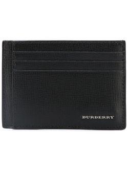 Logo Plaque Cardholder Burberry                                                                                                              чёрный цвет
