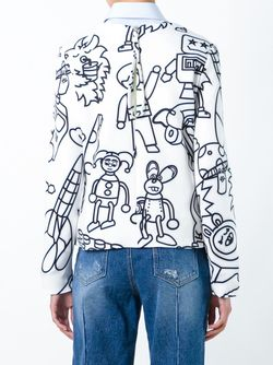 Cartoon Characters Print Sweatshirt Mira Mikati                                                                                                              белый цвет