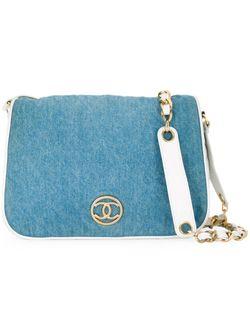 Джинсовая Сумка Через Плечо Chanel Vintage                                                                                                              синий цвет