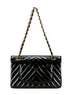 Сумка На Плечо С Логотипом Chanel Vintage                                                                                                              черный цвет