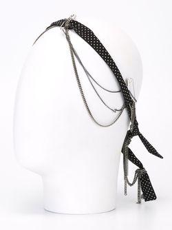 Ободок В Горох С Цепочками Maison Michel                                                                                                              черный цвет