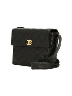 Стеганая Сумка На Плечо Chanel Vintage                                                                                                              чёрный цвет