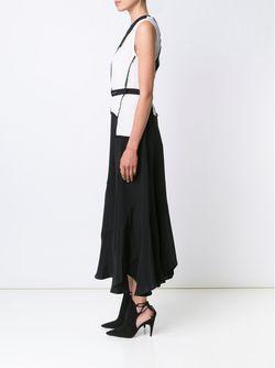 Платье С Контрастным Поясом Derek Lam                                                                                                              чёрный цвет