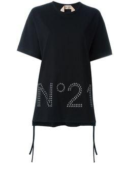 Футболка С Логотипом No21                                                                                                              черный цвет