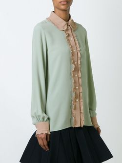 Рубашка С Контрастной Отделкой No21                                                                                                              зелёный цвет