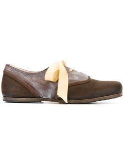 Туфли На Шнуровке С Закругленным Носком Geoffrey B. Small                                                                                                              коричневый цвет