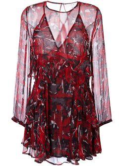 Платье С Оборками Iro                                                                                                              красный цвет