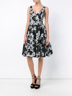 Платье С Цветочным Узором Erdem                                                                                                              чёрный цвет