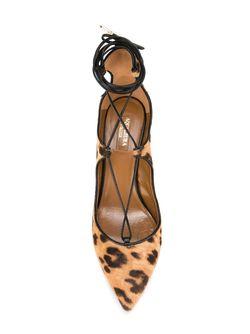 Туфли Christy 75 Aquazzura                                                                                                              коричневый цвет