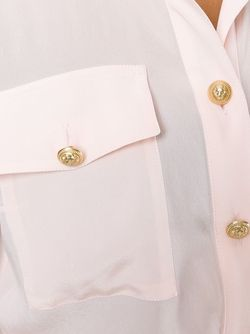 Рубашка С Карманами Balmain                                                                                                              розовый цвет