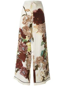 Брюки-Палаццо Kimono 1997 Valentino                                                                                                              многоцветный цвет