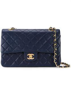 Стеганая Сумка На Плечо Chanel Vintage                                                                                                              синий цвет