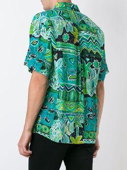 Рубашка С Тропическим Принтом Kenzo                                                                                                              зелёный цвет